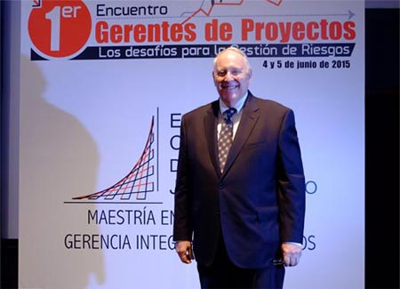 Dr. Hulett at Bogota Risk Management Meeting